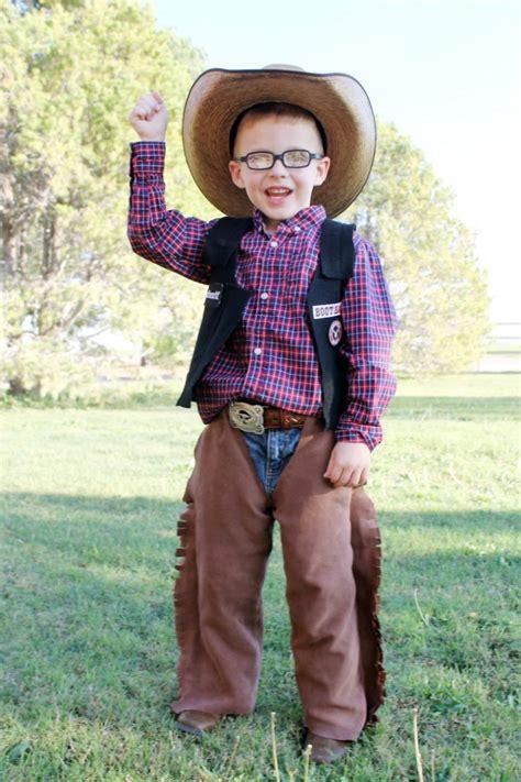 diy rodeo cowboy bull rider halloween costume idea