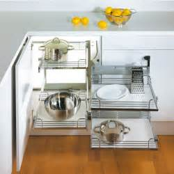 Storage Solutions For Corner Kitchen Cabinets by Hafele Magic Corner Ii For Use In Kitchen Blind Corner