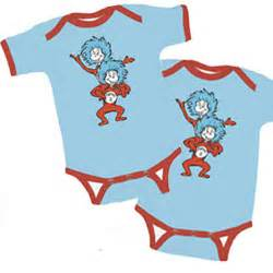 Thing 1 And Thing 2 Sleepers by Dr Seuss Thing 1 Thing 2 Footed Sleepers Set Of Two