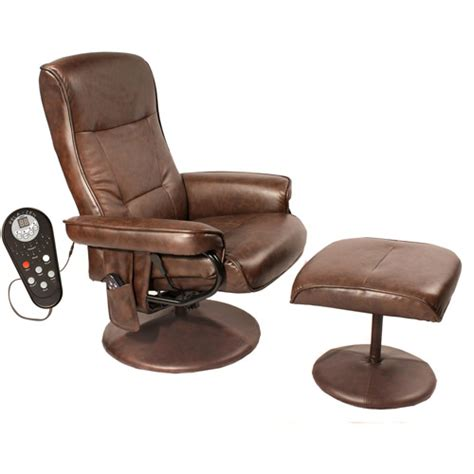 walmart recliner chairs relaxzen comfort soft reclining massage chair and ottoman