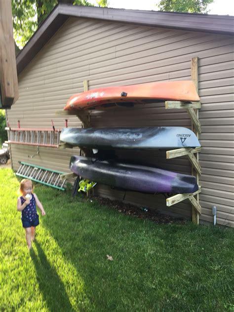 boat storage rack plans kayak storage cing river pinterest kayak storage