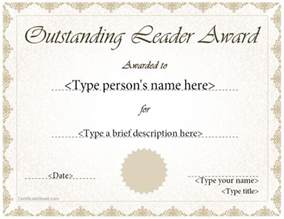 outstanding certificate template special certificates outstanding leader award