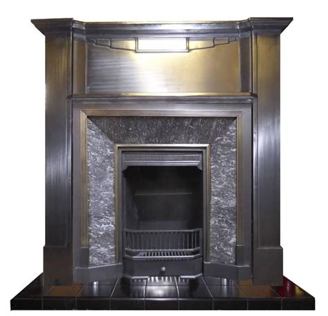 20th Century Fireplaces by 20th Century 1930 S Deco Burnished Cast Iron Mantel