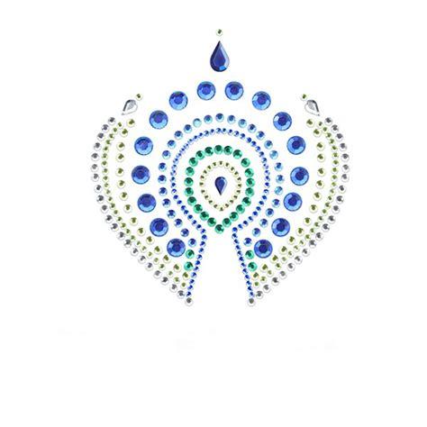 Biji Karambol By B Toys vajazzling pfauenschwanz blau gr 252 n