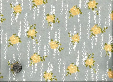 Cotton Quilt Fabric Nine Dots Rose Fabric Shabby Chic Gray Shabby Chic Quilt Fabric