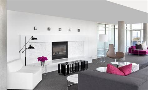Gray Living Room With Pop Of Color Interior Architecture Designs Grey And White Living