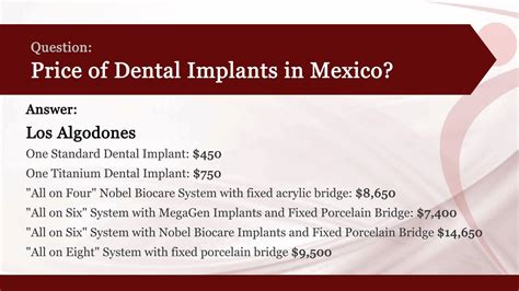 for dental implants in mexico best dental implants cost in mexico placidway answers