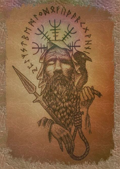 norse mythology tattoos odin the one eyed god vikings vikings