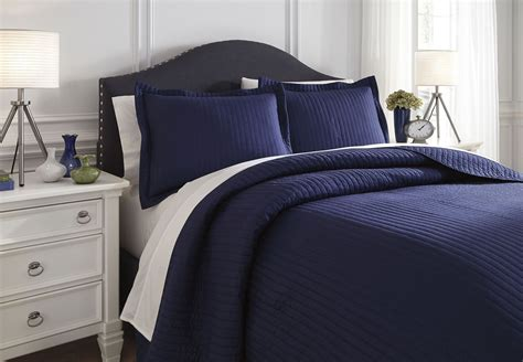 raleda navy king comforter set q497003k ashley