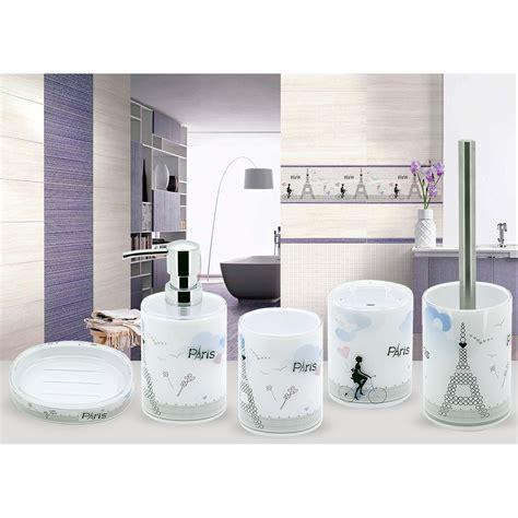 tatkraft paris bathroom accessories set of 5 soap dish