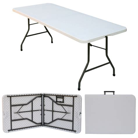 flexible table 6 x 2 6 quot folding blowmold trestle table fold in half