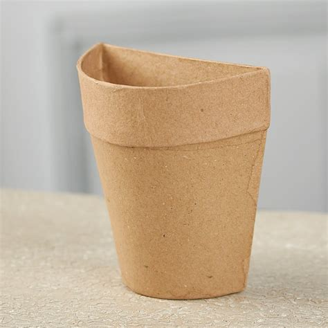 Paper Craft Flower Pot - paper mache half flower pot on sale craft supplies