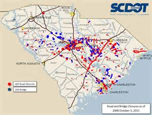 south carolina road conditions map map
