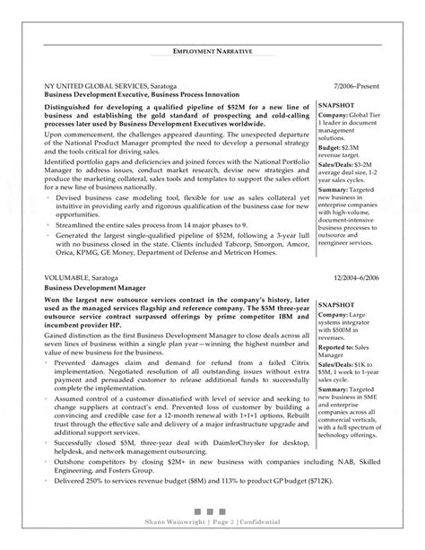Sle Resume For Senior Business Development Manager business development manager resume