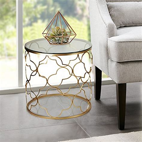 joveco gold  table  glass top  decorative