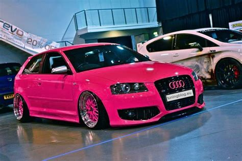 pink audi for audi a3 folierung wrapping in pink by