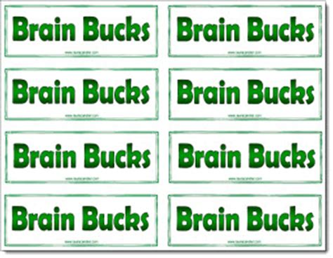 classroom freebies brain bucks freebie