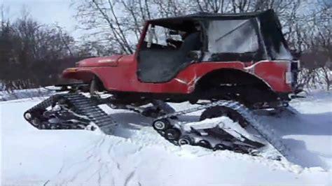 jeep snow tracks jeep cj5 mattracks 3 youtube
