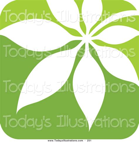 Leaf Square clipart of a green and white nature leaf logo icon on a