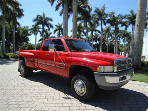 electric and cars manual 1998 dodge ram 3500 parking system buy used 1 owner cummins 4x4 dually 5 speed manual ext cab slt 1998 turbo diesel ram 3500 in