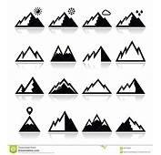 Mountains Icons Set Stock Vector  Image 45379858