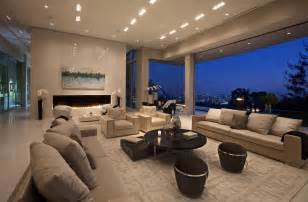 Modern Big Living Room Design Large Modern Home With Lovely City Views Bel Air Los