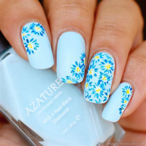 blue light for nails guest post floral nail art from atima aka nails by nemo