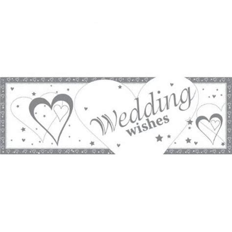 Wedding Banner Size by Wedding Wishes Plastic Banner Balloons Co Uk