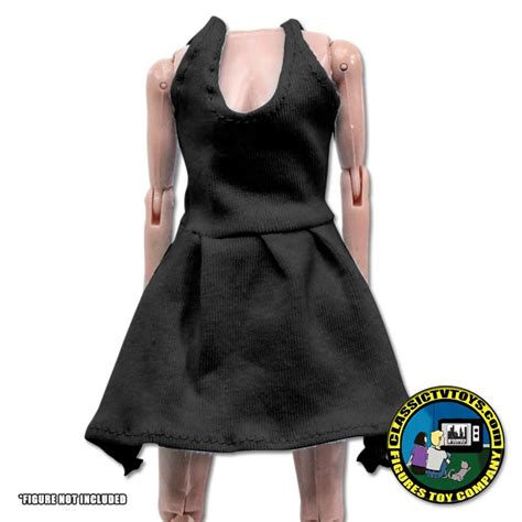 8 inch figure clothes black dress for 8 inch figures