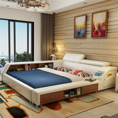 white leather bedroom furniture buy wholesale white leather beds from china white