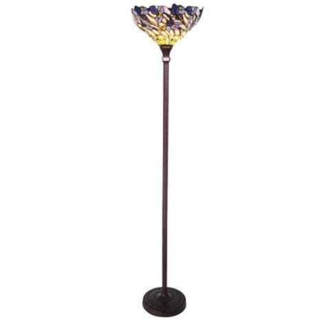 lighting style iris 1 light torchiere floor