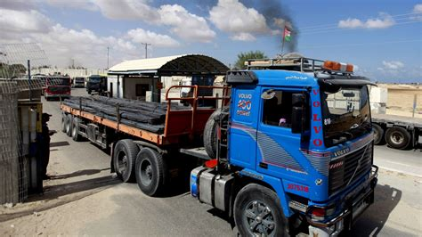 build a volvo truck israel eases restriction on building materials to gaza