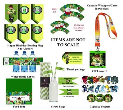 ben 10 printable party decorations 27 best ideas about ben 10 party on pinterest free