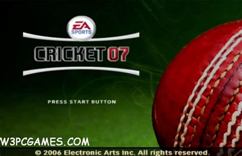 ea sport cricket 2007 full version pc games free download download cricket 2007 game setup for pc full version