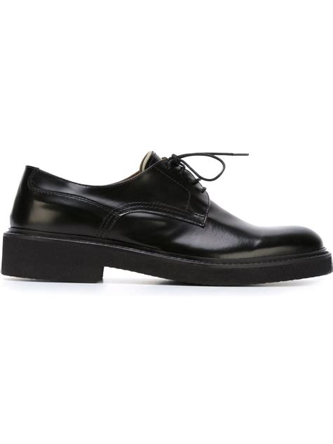 eleventy leather lace up shoes in black lyst