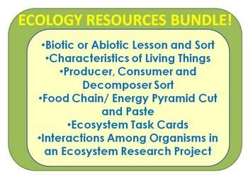 17 best images about ecology lessons on pinterest