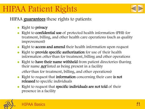 Hipaa Privacy Rights Ppt Hipaa Basics Privacy Powerpoint Presentation Id