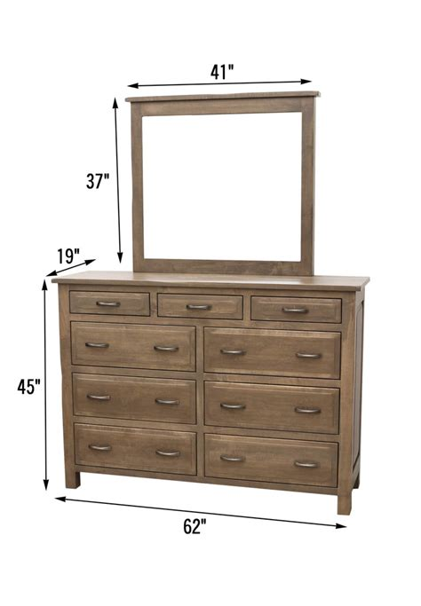 62 Quot Savannah Tall Dresser Mirror Dutch Craft Furniture Bedroom Dresser Dimensions