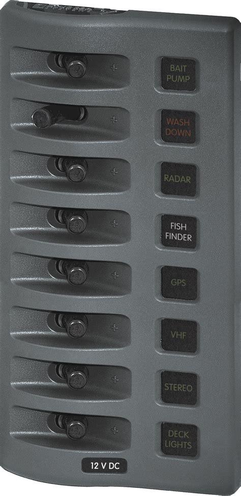 weatherdeck  dc waterproof fuse panel gray