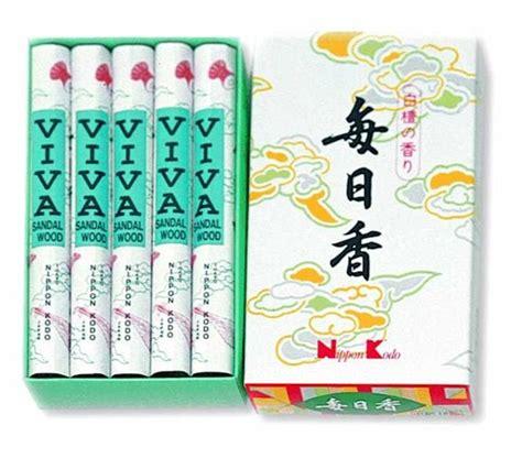 mainichi koh incense viva sandalwood reg 10 rolls nippon kodo official site