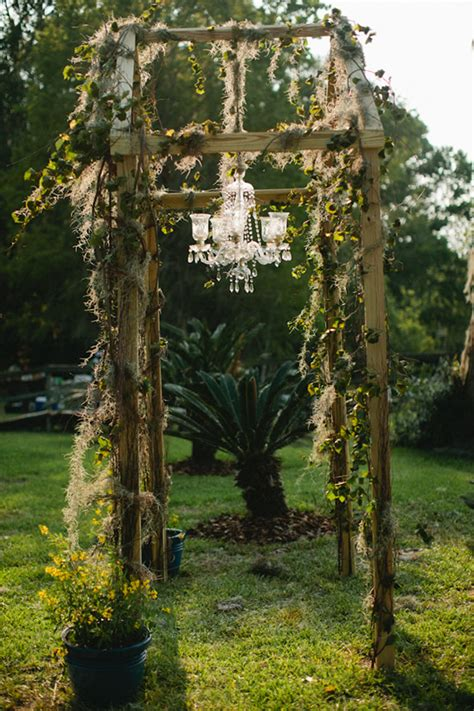 Wedding Arch Chandelier Antique Style Wedding Ideas From Kallima Photography