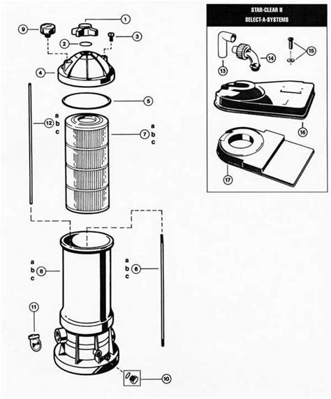 hayward 2 parts diagram hayward clear ii filter parts diagram