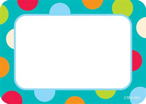printable name labels for preschool 7 best images of polka dot labels free printable name tags