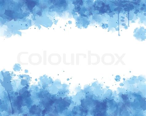 water blue color blue water color vector background stock vector colourbox