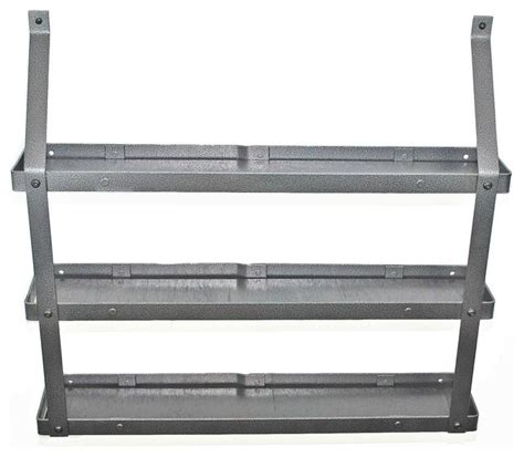 Industrial Spice Rack 3 tier spice rack hammered steel black wood industrial spice jars and spice racks by pot