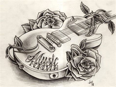 drawing design ideas 9 cool guitar tattoos tattoo design ideas