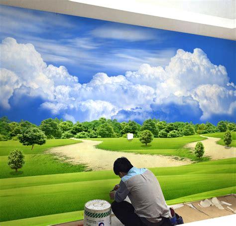 harga wallpaper dinding taman 3d dan spesifikasinya kustom ukuran 3d dinding mural wallpaper untuk ruang tamu