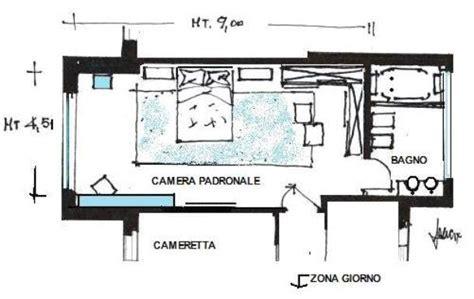 planimetria da letto da letto di 40 mq idea di progetto in azzurro