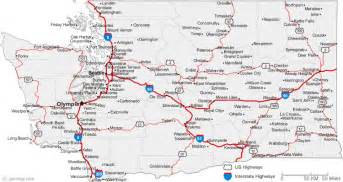 Washington State Highway Map by Washington Road Map Maps And Tourist Routes Pinterest