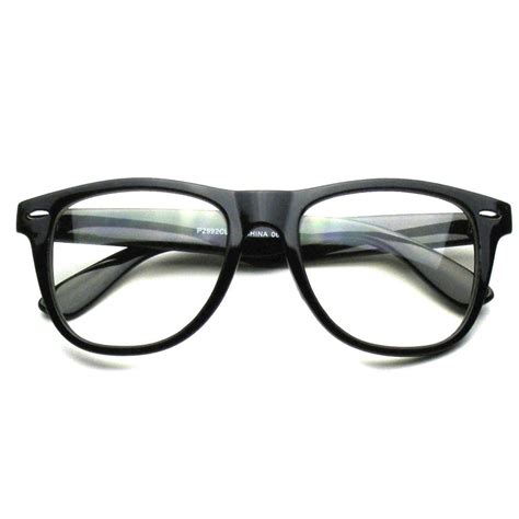 Lens Glasses retro wayfarer black clear lense glasses louisiana